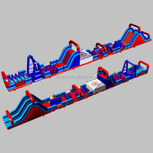 Mega Rugged Warrior Challenge inflatable obstacle/ obstacle course / assault course fun run playground for adults
