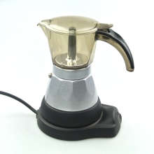 Acrylic coffee machine 6Cups Espresso Aluminum moka pot