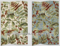 HOME DECOR LEAF PATTERN 3 PANEL CANVAS/WOODEN FOLDING SCREEN