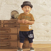 Cotton Cute designs summer baby boys boutique outfits