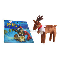 2017 Trending Christmas Kid Gift Elf On The Shelf Elf Pets Reindeer 22cm Height With Books