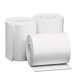 """Universal : Single-Ply Thermal Paper Rolls, 2-1/4"""" x 80 ft, White, 50/Carton -:- Sold as 2 Packs of - 50 - / - Total of 100 Each"""