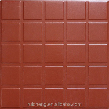 Red Clay Tile Flooring 300x300mm Non Slip High Quality For Outdoor