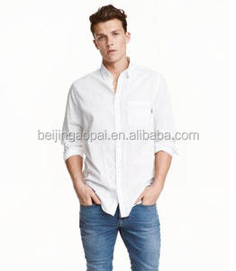 Chinese manufacture supply bulk apparel woven business dress design cotton plain mens shirts
