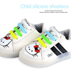 Colorful fashion silicone shoelaces lazy shoe lace for kids