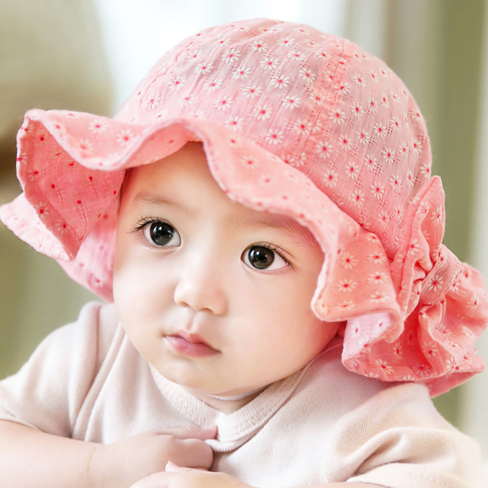 Detail Feedback Questions about Baby Girl Pink Bucket Hat Toddler Infant Sun  Cap Summer Outdoor Baby Girl Summer Hat Bucket Hat Sweet Princess Girl Hat  on ... f876320aad5