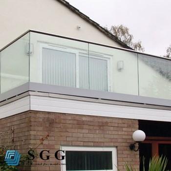 Modern Glass Aluminium Balcony Railing Stair Handrail