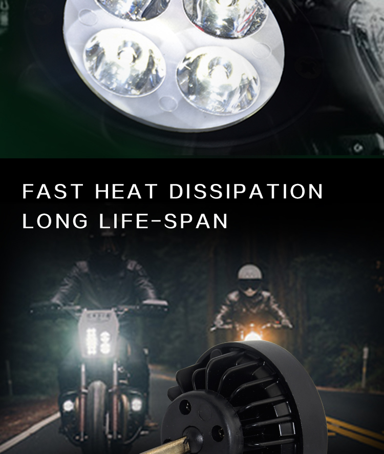 12W motorcycle led headlight 12v led mirror lights led lights for motorcycle