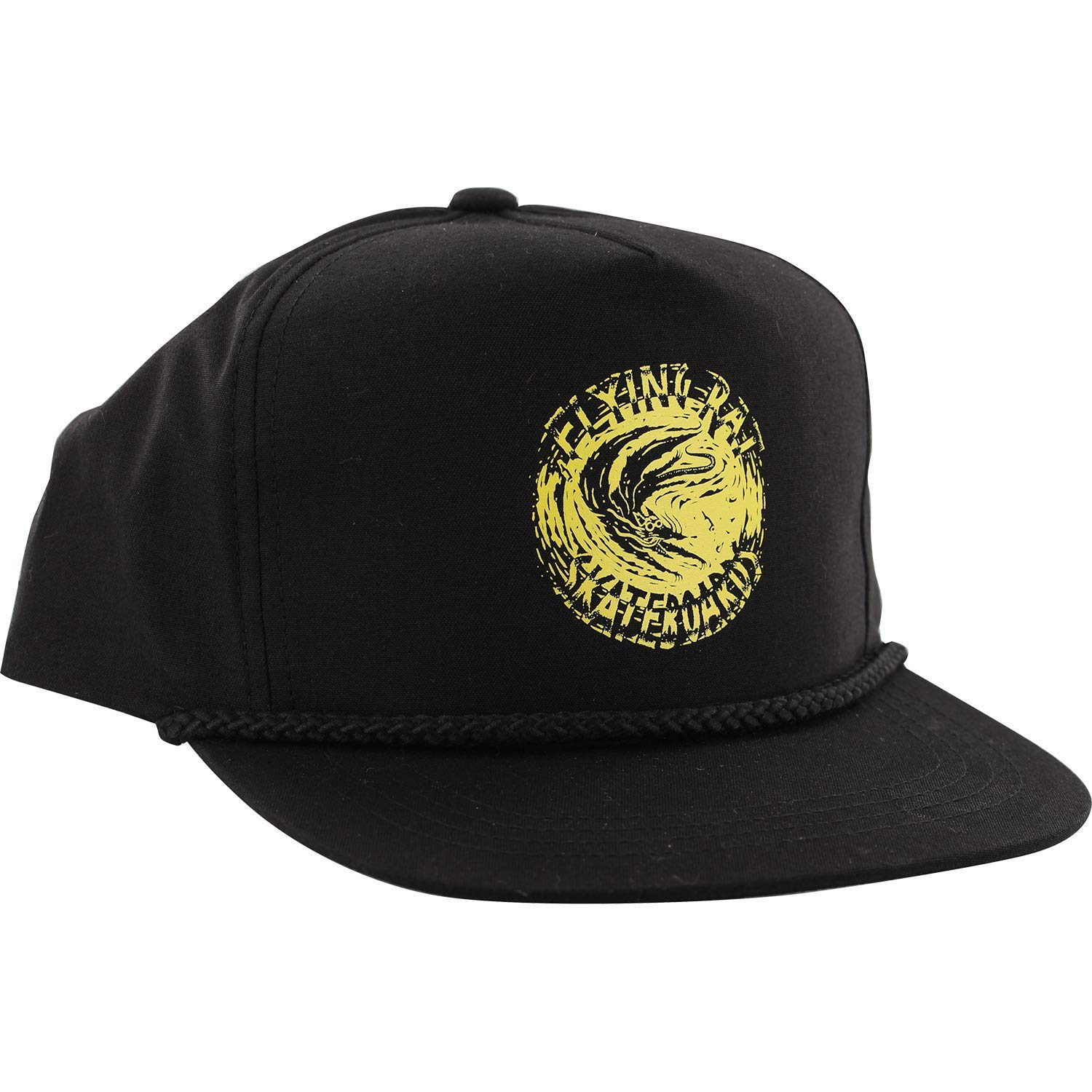 c7675d17de6 Get Quotations · Anti Hero Skateboards Flying Rat Poplin Black Snapback Hat  - Adjustable