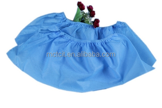 Blue/green Disposable antiskid shoe cover medcial shoe cover