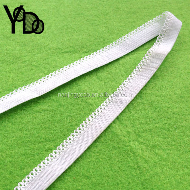 YQ-EL18 Widely use Good quality 3/8'' solid color white elastic sewing trim