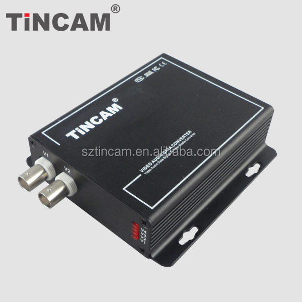 4 channel digital to analog video to ethernet Fiber Optical Video Converter