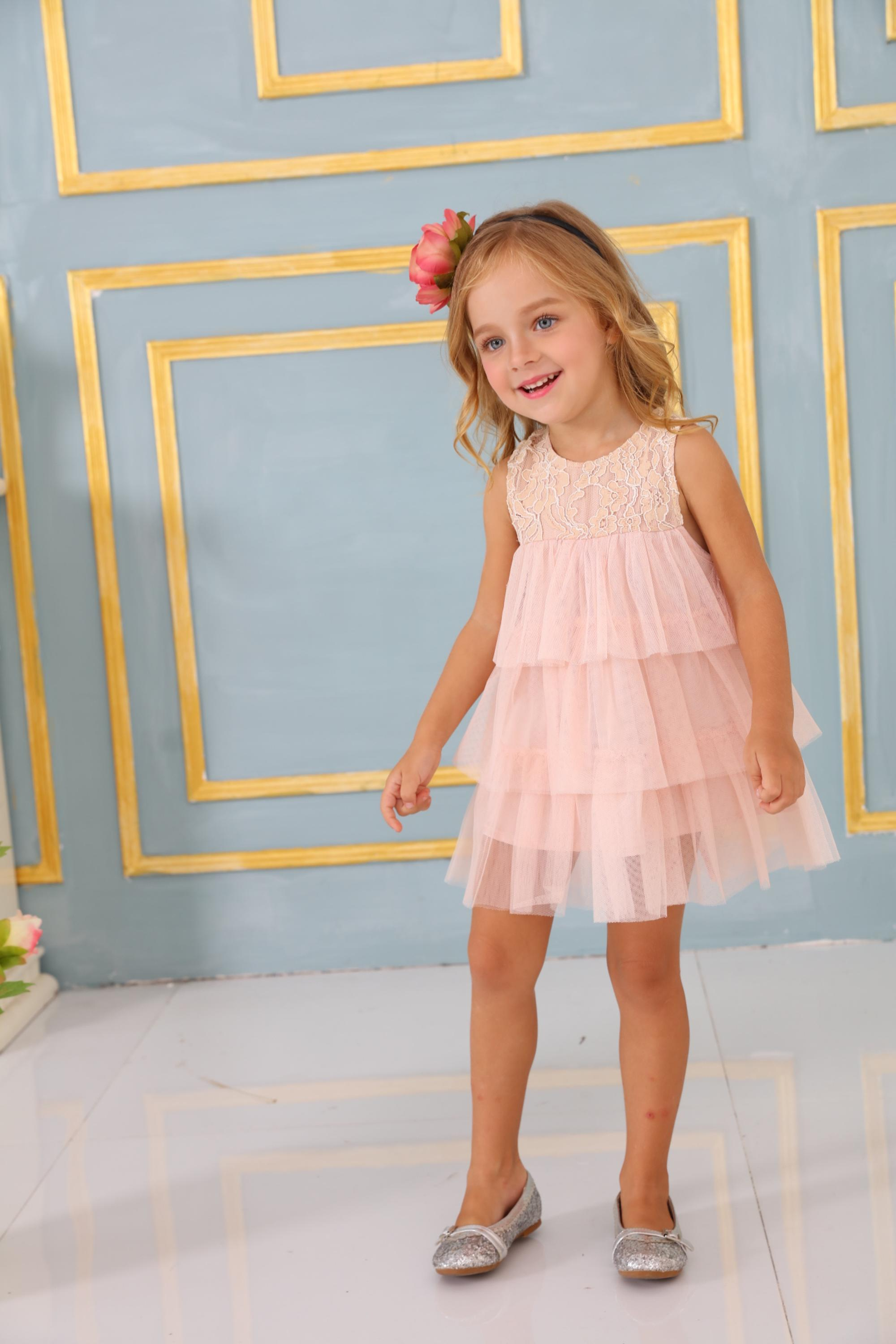 Girl party wear western dress baby girl clothes children frocks ...