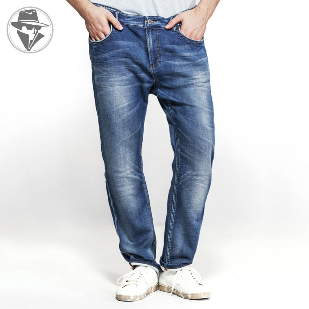 SATUKI Jeans for Men,Relax Fit Loose Straight Leg Stretch Denim Jeans Pants Plus Size Big /& Tall
