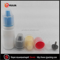 10ml empty white e liquid plastic pet dropper bottle with clear childproof cap