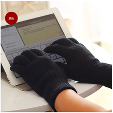 Free Logo Winter Mittens Magic Men Touch Gloves for Women