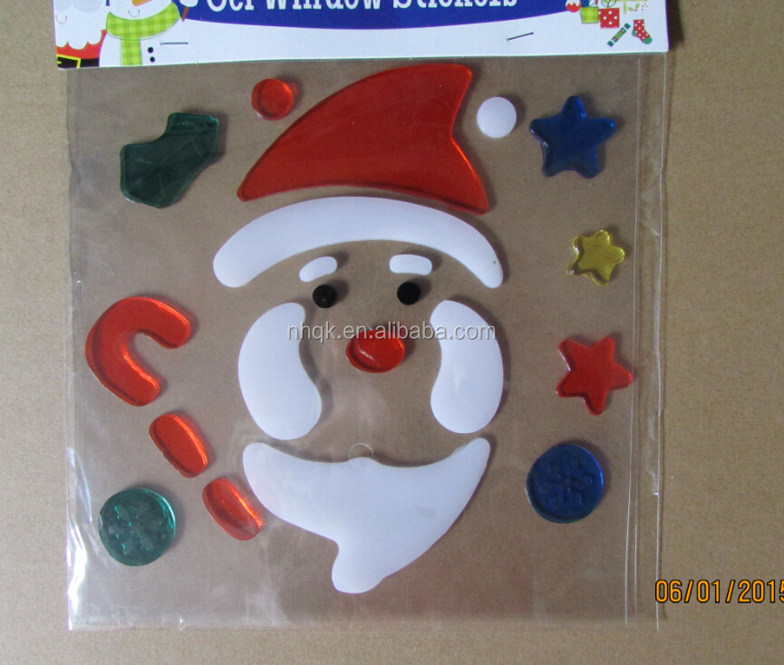 Christmas gel sticker wholesale christmas suppliers alibaba