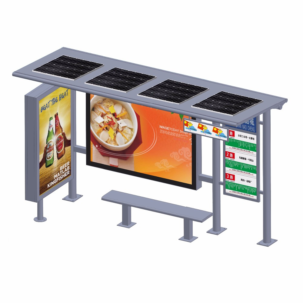 product-YEROO-Customized stainless steel Solar Bus Stop Station-img-3
