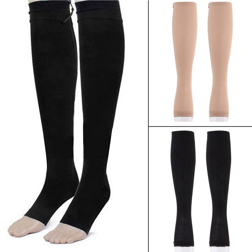 ba27af4e91 Smilingtree,Travel Stockings Miracle Socks Antifatigue Compression Stockings  Soothe Achy Unisex Knee Socks Supports Open