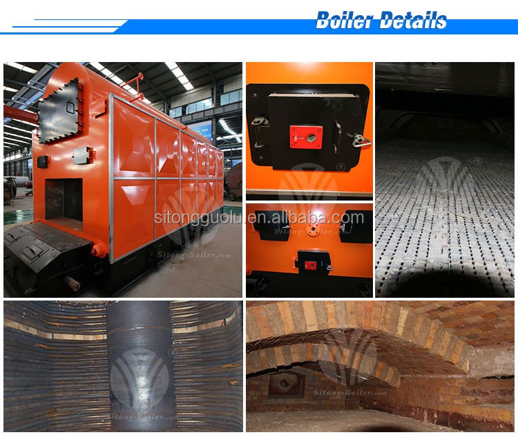 Dzl Series 3 Pass Industrial Coal Steam Boiler For Rice Mill
