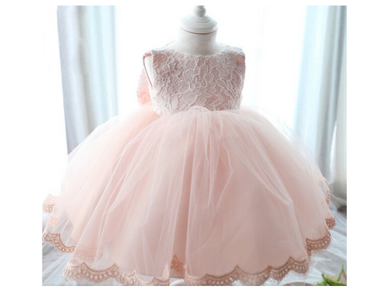 Attractive Get Quotations · 2015 New Born Baby Girls Dress Birthday Christening Gown  Wedding Baby Dresses Lace Bow Ball Gown
