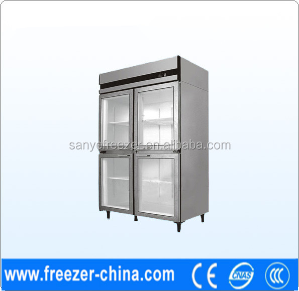 four glass doors display freezr ,hotel display showcase