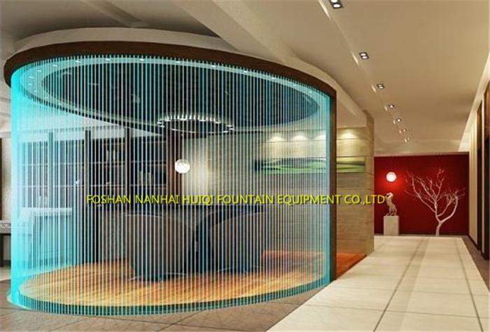 Custom Stainless Steel Digital Water Curtain Rain Fountain Indoor Decoration