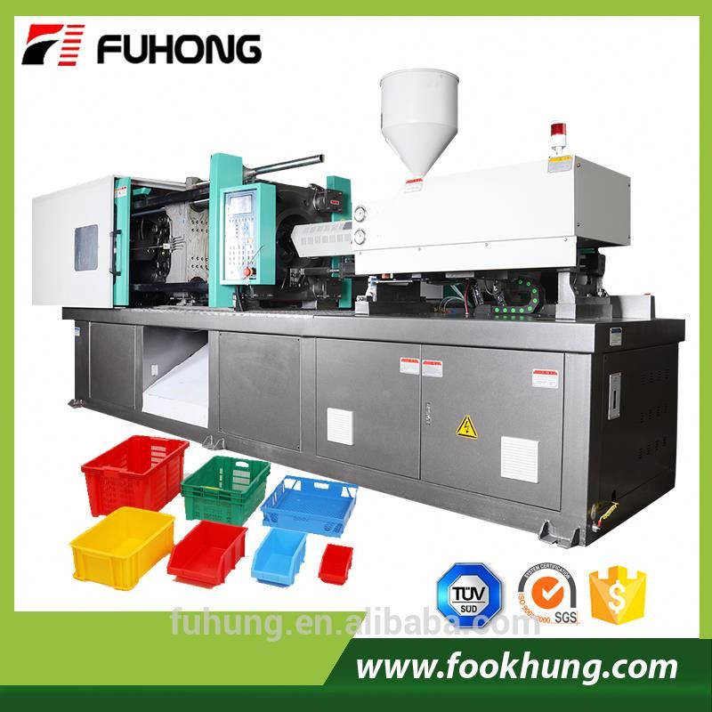 Ningbo Fuhong high cost performance 500T 500ton 5000kn durable plastic fruit vegetable crate injection molding machine