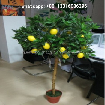 q122203 shengjie bonsai tree artificial plants for sale mini fruit trees artificial lemon tree
