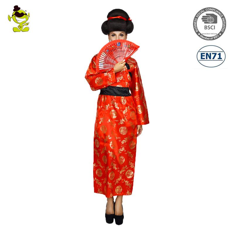 ace0afcf7 Trajes do vestido de fantasia do quimono da menina japonesa do traje da senhora  Geisha Costume