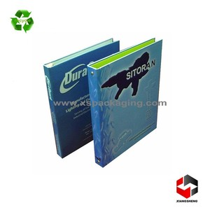 factory wholesale high quality fancy custom made a4 size 3 ring paper folder