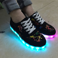 new 8 Color LED light up shoes Men Women Fashion Casual led shoes for adults USB charging led shoes