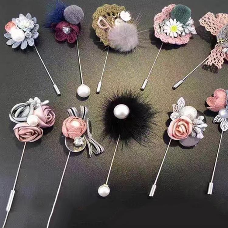 Wholesale custom alloy women flower lapel pin фото