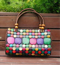 Bosnian designer women lady handbag coconut shell bag