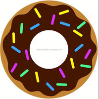 Donuts Painted Beach Towels, Compressed Beach Towel Stock Lots