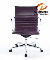 LS-87T-5 Liansheng Mid-Back Swivel/Tilt Chair, brown Soft-Touch FauxLeather, Chrome Frame