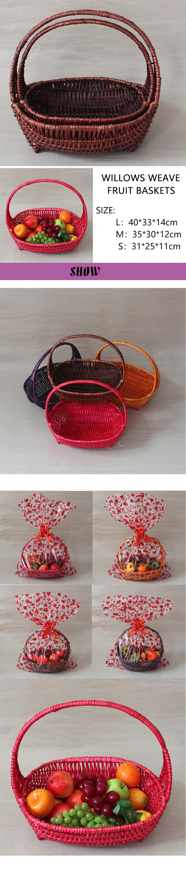 Pure handmade basket wicker gift basket with handle