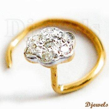 Diamond Gold La s Nose Pin Buy Diamond Nose Pin Diamond Nose