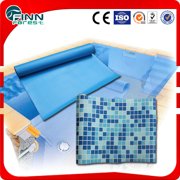 Lowest price pvc uv swiming pool liners and pvc vinyl liner for swimming pool