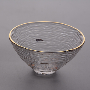 Wholesale Japanese Disposable glass tea cup and saucer sets