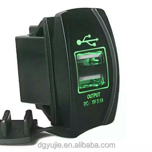 The most popular Carling Style Rocker Dual USB car charger for Toyota