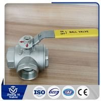 new product 2 inch stainless steel 3 way ball valve