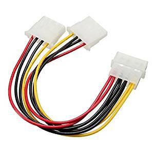 SELFON ATX 4-Pin IDE Molex to 5 SATA Serial ATA Power Supply Adapter Cable 18AWG Wire-Black