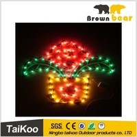 flower tree decorate christmas rope light silhouette
