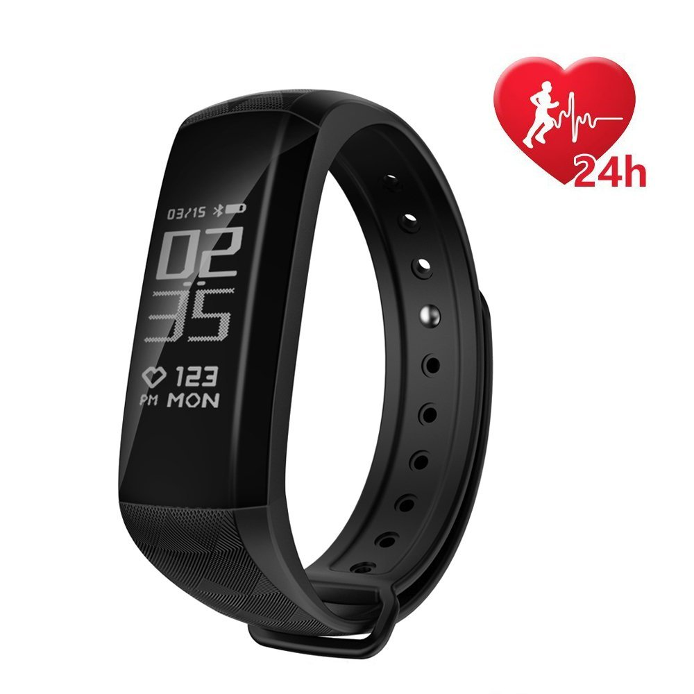 Fitness Activity Tracker,Coolbit Smart Band Watch Calorie Counter Sports Bracelet Health Wristband W/ Real-Time Heart Rate Monitor Waterproof Pedometer for Men/Women/Kids Compatible With Android & IOS