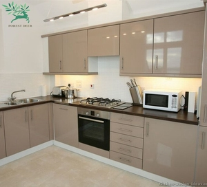 Customized Popular Kitchen Cupboards Mdf Hdf Kitchen Cabinets With Countertop