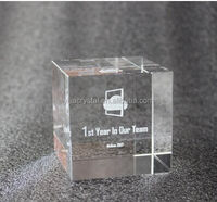 2017 Classical Crafts 3D Laser Engraved Crystal Cube