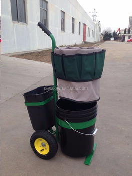 Garden U0026 Tool Caddy , Garden Tool Trolly, Garden Tool Organizer Cart With  Buckets