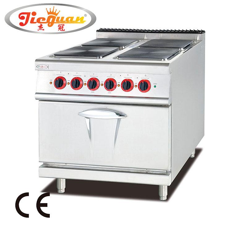 Komersial 4 hot plate kompor memasak dengan oven