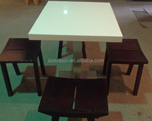 latest designs of dining tables/rotating dining table,solid surface restaurant Dining Table with Chairs